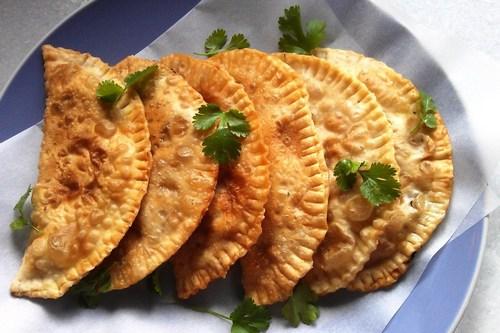 Крымские чебуреки с мясом и луком
