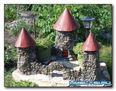 Садовый декор-замок. Мастер-класс